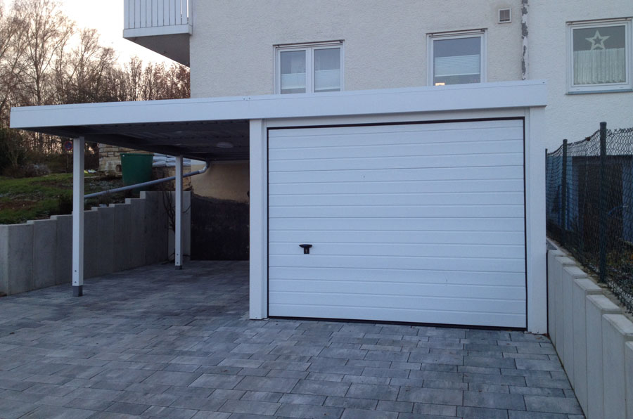 Garagen carport kombination myport