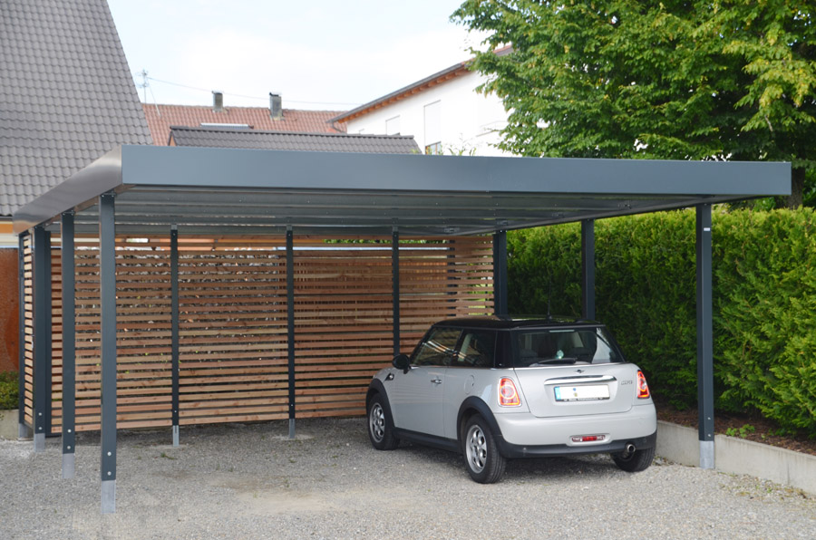 doppelcarport aus metall myport. Black Bedroom Furniture Sets. Home Design Ideas