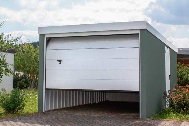 Gro garagen aus stahl myport for Carport bielefeld