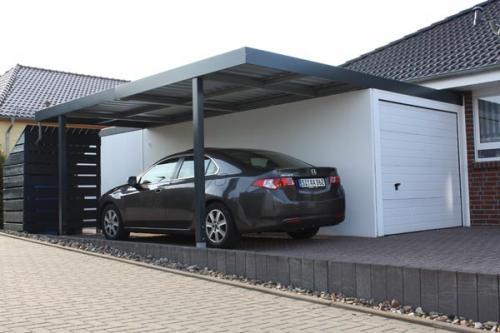 Garage mit carport flachdach  carport_anbau-carport-garage-stahl7