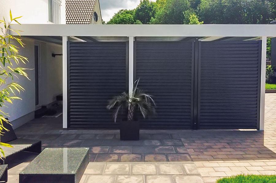 doppelcarport aus metall myport. Black Bedroom Furniture Sets. Home Design Ideas