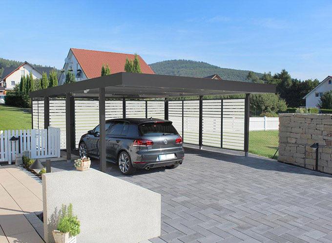 carport aus stahl myport. Black Bedroom Furniture Sets. Home Design Ideas